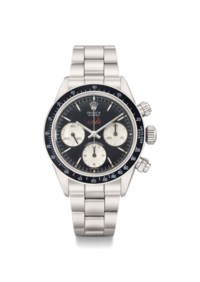 Rolex. An extremely rare and highly important stainless steel chronograph wristwatch with bracelet and box, especially made for Sultan Qaboos bin Said Al Said and retailed by Asprey